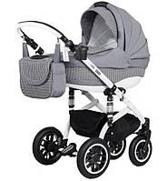 Детская коляска Adamex Lara Eco 650K Белая рама Серый