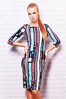 Женское платье больше размеры | Полоски платье Лоя-1 д/р