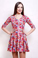 Красивые летние платья | Маки-серый платье Мая д/р