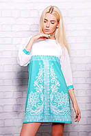 Модные летние платья | Кружево мята платье Тая-1 (шифон) д/р