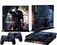 Скины для Sony Рlaystation 4 + 2 геймпада Uncharted 4
