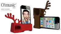 Подставка-Усилитель звука iPhone 5 Ozaki O!music Zoo Deer Brown (OM936DA)
