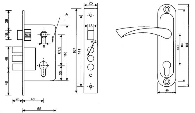 Схема дверного замка Апекс