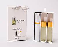 Мини парфюм с феромонами Chanel Egoiste Platinum в подарочной упаковке 3 x 15 ml