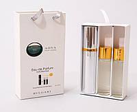 Мини парфюм с феромонами Bvlgari Aqua pour homme в подарочной упаковке 3 x 15 ml
