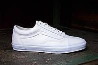 Мужские кеды Vans Old School (ванс, вансы) белые