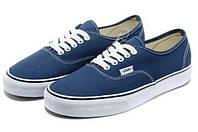 Мужские кеды Vans (ванс, вансы) синие