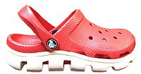Женские кроксы Crocs Duet Sport Clog красные