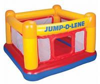 Надувной батут Jump о Lene «Playhouse» Intex 48260, 174*174см, высота 112см, игровой центр для детей 3-6 лет