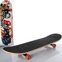 Стильный скейт Profi MS 0322-3, 78-19,5см, пластиковая подвеска, колеса ПВХ, подшипники 608Z