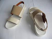 Женские сандалии, босоножки кожа 2485 (легкие, на резинках)