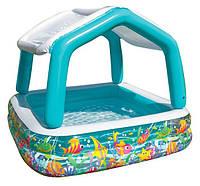Детский надувной Бассейн со съемной крышей 57470