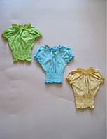 Блузка летняя для девочки, подростка, фуликра, р.р.28-40.