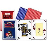 Карты игральные пластиковые 54 шт. Poker Index 25395-33