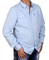 Мужская рубашка из плотного хлопка.