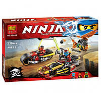 "Конструктор Ninjago/Ниндзя го ""Погоня на мотоциклах"" Bela 10444 (аналог LEGO Ninjago 70600)"