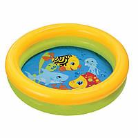 Бассейн 59409 круглый, детский, 61-15 см,2 кольца,1-3 года.