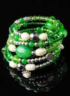 Браслет с зеленым агатом от Студии Леди Стиль. www.LadyStyle.Biz.