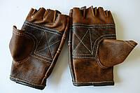 Перчатки для занятий тяжелой атлетикой, кожаные