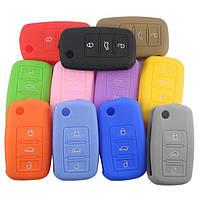 Силиконовый чехол на ключ 3 кнопки Volkswagen Golf Passat Caddy Polo ...