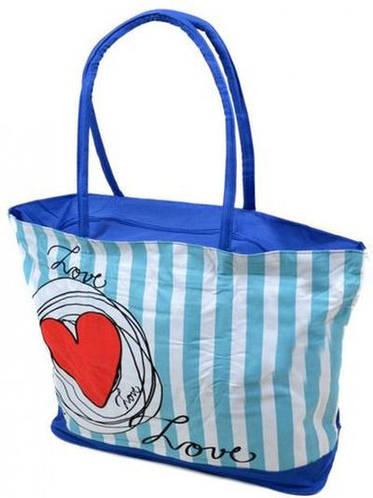 Прекрасная сумка женская пляжная текстиль Podium 1350 blue