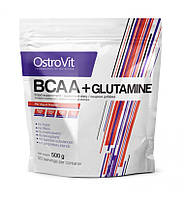 BCAA - Лейцин, Изолейцин, Валин OstroVit BCAA + L-Glutamine 500g lemon