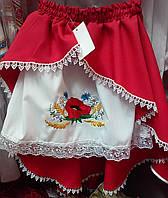 Двойная юбка с вышивкой для девочки