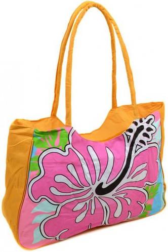 Удивительная сумка женская пляжная текстиль Podium 1331 yellow