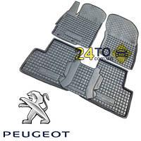 Автоковрики для PEUGEOT Partner (2010-...) TOP (с подлокотником) (Комлект в салон) (Avto-Gumm), Пежо Партнер