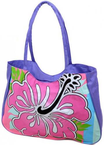 Легкая сумка женская пляжная текстиль Podium 1331 purple
