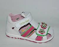 Босоножки для девочек закрытый носок, B&G, белые, 21-26