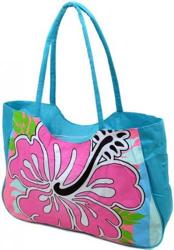Выразительная сумка женская пляжная текстиль Podium 1331 blue