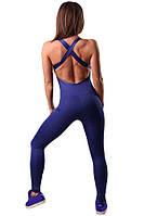 Женский спортивный комбинезон синий Blu Active