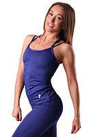 Женская майка для спорта синяя Blu Active