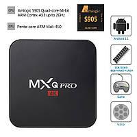 MXQ Pro Amlogic S905 TV Box ТВ приставка беспроводная Андроид SmartTV 2.0GHz Quad-Core  RAM 1Gb  ROM 8Gb  Andr