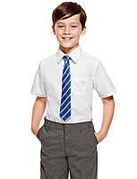 Школьная рубашка белая с коротким рукавом для мальчика Easy to Iron Marks&Spencer (Англия)