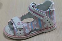 Босоножки и сандалии на девочку, детская кожаная летняя обувь,серия ортопедия Tom.m р.25