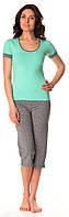 Жіноча піжама (футболка і бриджі) 0127/130