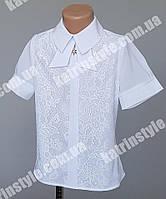 Нарядная блуза для девочек с гипюром