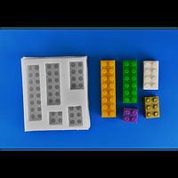 Силиконовый молд для мастики Лего