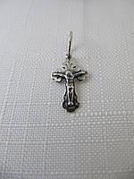 Крестик серебряный 925* черненый с распятием