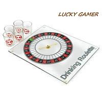 Пьяная рулетка со стопками алкогольная игра для алко компании на 5 алко рюмок SGR2025