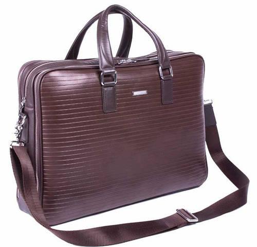 Мужской кожаный портфель премиум класса VERUS серии Business 400B коричневый