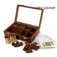 Набор сувенирные игральные карты домино и кубики кости GS690