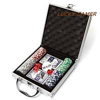 Покерный набор на 100 фишек с номиналом в кейсе DMS100NA