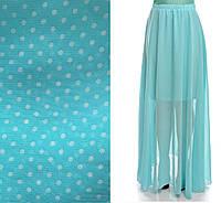 Длинная шифоновая юбка в мелкий горох 03096