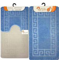 Набор ковриков для ванной и туалета  Arya  Моно 1030 голубой