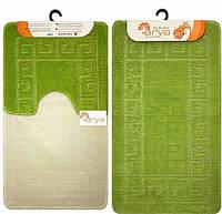 Набор ковриков для ванной и туалета  Arya  Моно 1030 зеленый