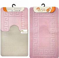 Набор ковриков для ванной и туалета  Arya  Моно 1030 розовый