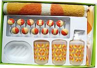 Набор для ванной шторка, коврик, стаканчики  Arya Gayla